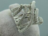 Turkish Handmade Jewelry 925 Sterling Silver Zircon Stone Women Ring Sz 8