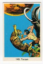 1970s Swedish Film Star Card #149 Edgar Rice Burroughs hero Tarzan The Ape Man
