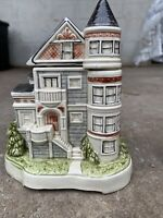 Vintage Otagiri Ceramic Victorian House Bank Music Box-As Money Goes in it Plays