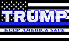 USA Trump KAS Keep America Safe Blue Line Police 3X5 Flag Rough Tex® 150D Nylon