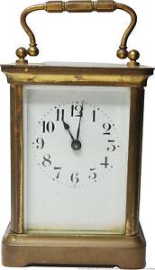 Antique French Carriage Clock Duverdrey Bloquel Keywind France
