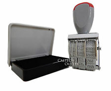 Rubber Manual Set Date Stamp with Black Ink Pad for Business Office School