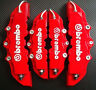 2 Pairs Red 3D Brembo Style Car Universal Disc Brake Caliper Covers Front & Rear
