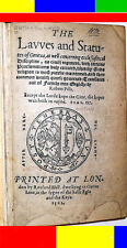 1562 Antique Early-English Law Book THE REFORMATION OF CHURCH-JOHN CALVIN Bible