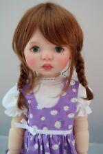 Monique TESSIE Wig Golden Auburn Size 12-13 SD BJD shown on My Meadow SAFFI