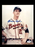 Warren Spahn PSA DNA Coa Hand Signed 8x10 Photo Milwaukee Braves Autograph
