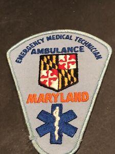 Maryland Emergency Medical Technician Ambulance Patch