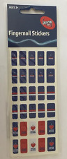 New Pack Official Licensed AFL Fingernail Stickers - Western Bulldogs - Nail Art