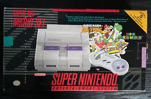 Super Nintendo  Mario Set Super Nes ORIGINAL BOX Only W/ Styrofoam Insert