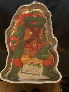 Vtg 1989 Wilton Cake Pan w/ Insert - Teenage Mutant Ninja Turtles Michaelangelo