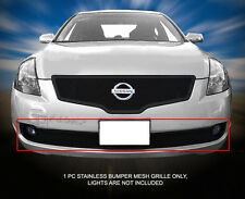 Stainless Steel Black Mesh Grille Grill Bumper For 07 08 09 Nissan Altima