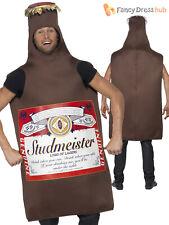 Adult Studmeister Beer Bottle Lager Mens Funny Fancy Dress Stag Party Costume