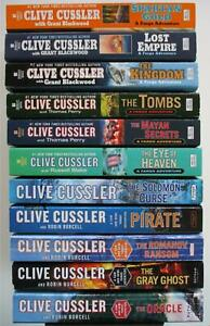 CLIVE CUSSLER 11 Book Lot SAM & REMI FARGO Series ORACLE GRAY GHOST Adventure