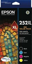 Epson 252XL DURABrite Ultra High Capacity Ink Cartridge Value Pack C13T253692
