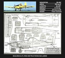 RC plans & instructions PIPER PA36 PAWNEE BRAVE 300 Cropduster Stand-off scale