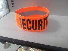 BRASSARD ELASTO ORANGE : SECURITE sécurité