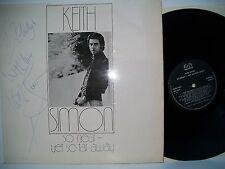 """12"""" Vinilo Lp. tan cerca pero tan lejos por Keith Simon. firmado en la portada."""