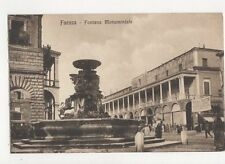 Faenza Fontana Monumentale Vintage Postcard Italy 156a