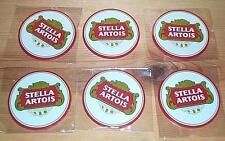 STELLA ARTOIS 6 BEER BAR MAT TOP SPILL COASTERS NEW