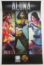 "Aluna Promotional Poster San Diego Comic Con 2013 17"" x 11"" S2Games Hon"