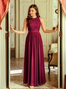 Full length Burgandy Bridesmaid Dress- Size 10 BNWT