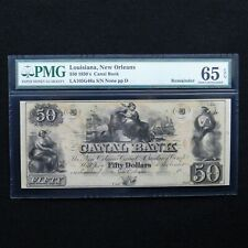 $50 1850's Canal Bank- Louisiana, New Orleans, PMG 65 EPQ Gem Unc, LA105G48a
