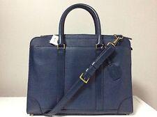 Coach Crossbody Royal Blue Box Grain Leather Slim Briefcase F71013 LAST ONE