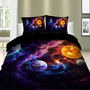 Galaxy Clouds Doona Duvet Quilt Cover Set Single/Double/Queen/King Size Bedding