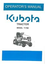 KUBOTA Ride On Falciatrice T1760 MANUALE Operatori Trattore