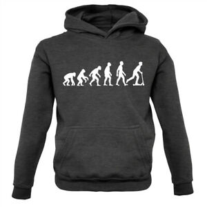Evolution of Man Micro Scooter Rider - Kids Hoodie Ride Scooting Scoot Riding