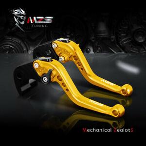 MZS Short Brake Clutch Lever for Kawasaki ER GPZ NINJA ZX VERSYS Z ZZR ZR Gold