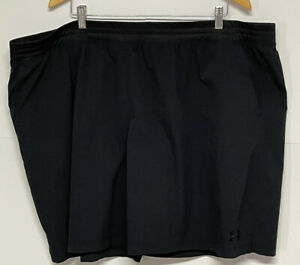 Under Armour Heatgear Men's Black Shorts 3 Pockets Size 4XL Big & Tall