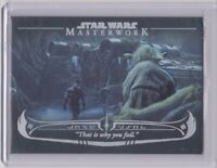 2020 Topps Star Wars Masterwork The Wisdom of Yoda # WY-1 Rainbow Card #189/299