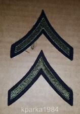 Pair - Ww2 Era Us Army Private First Class Chevrons - Wool