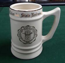 Vintage Colorado State University Ceramic Ivory Gold Trim mug 1870