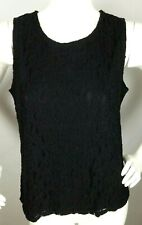Lace Tank Cami M 100/% Cotton NWT by Karen Scott