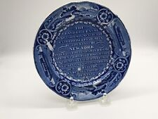 Historical Staffordshire Plate Erie Canal New York  Ca. 1825