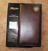 NOCONA GENUINE LEATHER 12 GAUGE WESTERN RODEO WALLET/CHECKBOOK COVER