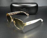 COACH HC7059 92496E Gold Ivory Wild Beast Gold Flash 58 mm Women's Sunglasses