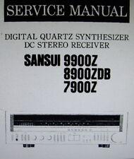 SANSUI 7900Z 8900ZDB 9900Z STEREO RECEIVER SERVICE MANUAL INC SCHM DIAGS ENGLISH