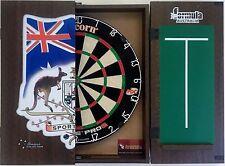 Unicorn Eclipse Pro 2 Dart Board & FORMULA Sports Bar Dart Cabinet + 6 x Darts