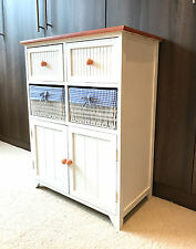 Brand New Retro Shabby Chic Cupboard Wicker Cabinet Drawers Storage Unit Bedroom