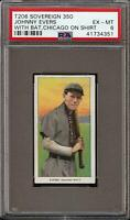 1/1 Rare 1909-11 T206 HOF Johnny Evers Chicago Shirt Sovereign 350 Chicago PSA 6