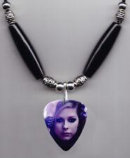 Avril Lavigne Signature Photo Guitar Pick Necklace #8