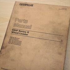 Cat Caterpillar 980f Wheel Loader Parts Manual Book List 8jn Series Front End