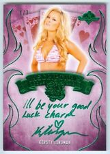 "KIRSTY LINGMAN ""YOUR GOOD LUCK CHARM INSCRIPTION #1/3"" BENCHWARMER SIN CITY 2015"