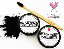 CHARCOAL TOOTH POLISH + TOOTHBRUSH + NATURAL ORANGE STAR ANISE OIL TOOTHPASTE