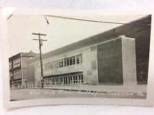 Vintage Real Photo Postcard Mongssen PA High School Building Not Used
