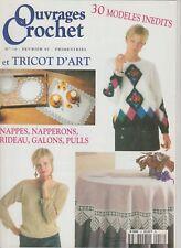 Ouvrages crochet et tricot d'art N°16 février 1997