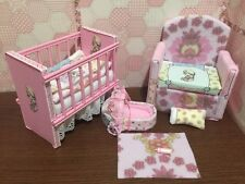 Barbie Baby Nursery Set Furniture Crib,Sofa ,Carrier.Precious Moments